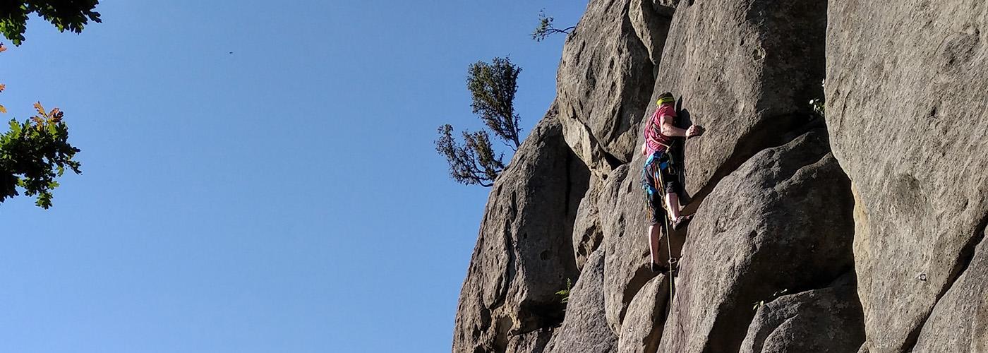 Víkendové lezení pod Helfštýnem a u Lidečka